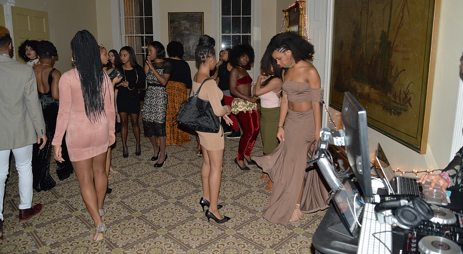 The Black History Month formal celebration allowed students to glam up and enjoy a dance party with a DJ.