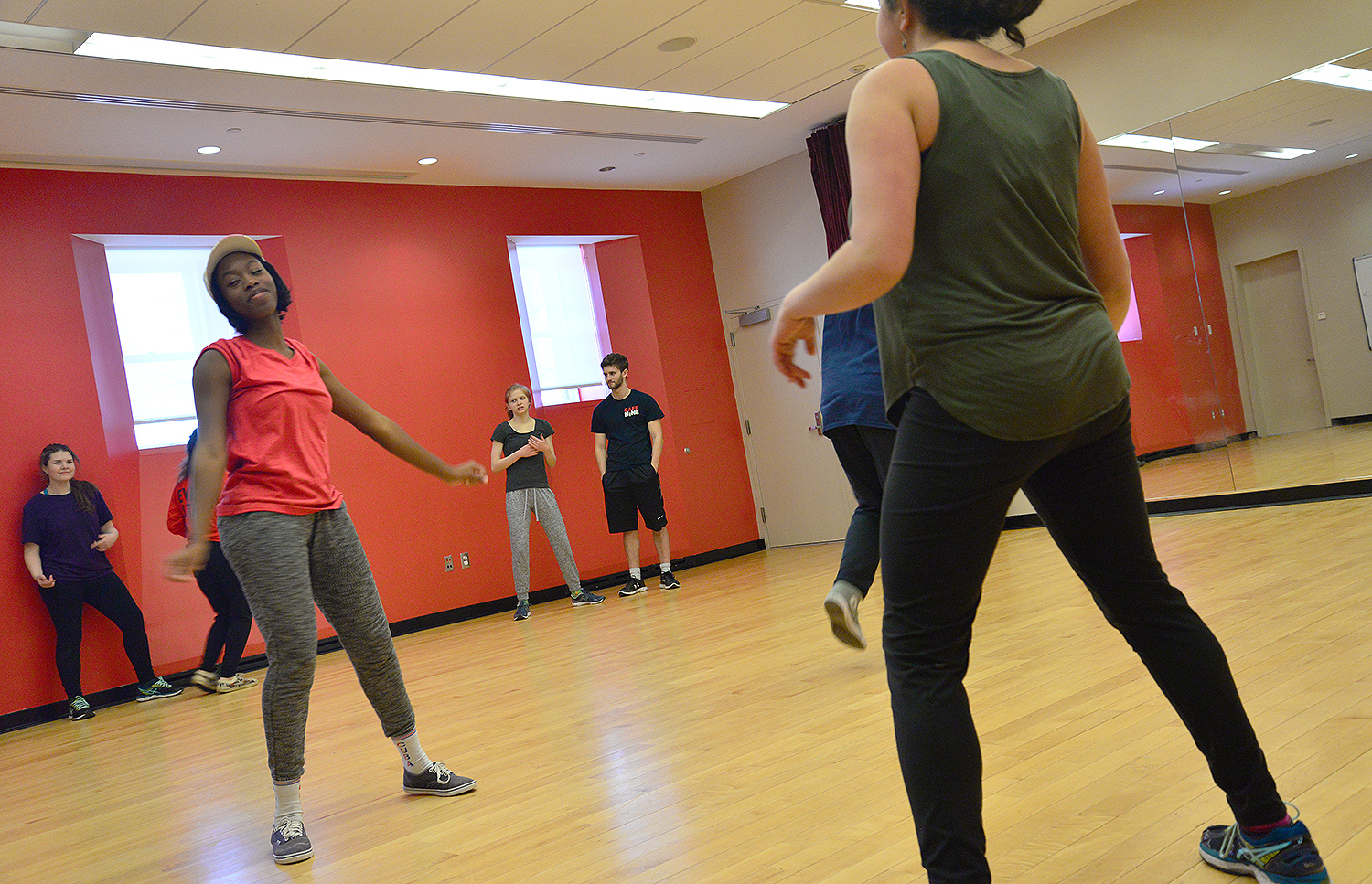 The Milk & Choreo student group provides the greater Wesleyan community with an open space to learn and practice urban dancing, with a positive and encouraging community of individuals who do not necessarily have dance experience. The group met on Feb. 18 in the Fayweather dance studio.