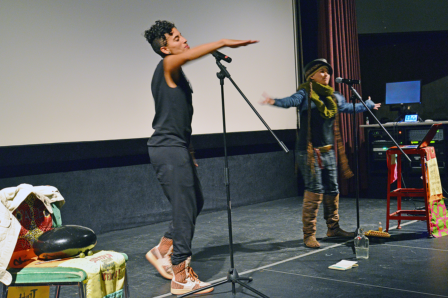 A performance, which focuses on infusing the movement for justice with healing and imagination, audience members witnessed dual-voice poems, unconventional hip hop, and multi-media theater, all combined and used to explore the diversity of the black experience.