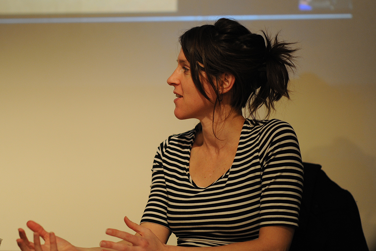 The event was moderated by Claire Grace, assistant professor of art.
