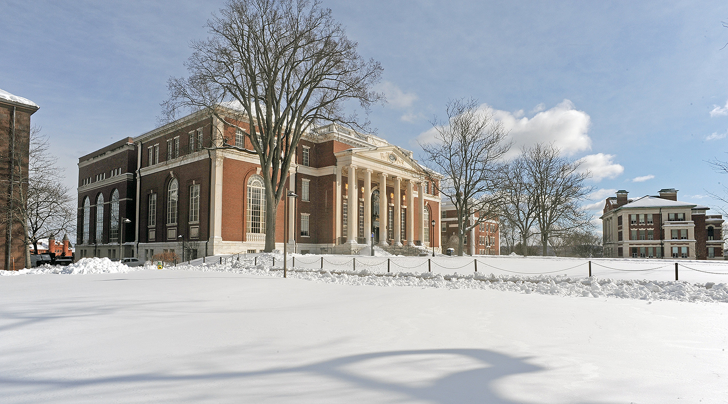 Olin Library and Allbritton Hall.