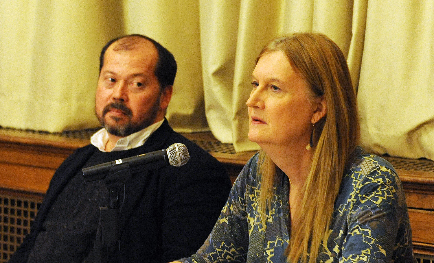 Wesleyan alumni Alexander Chee '89 and Jennifer Boylan '80 read from their recent work, discussed queer lives and storytelling, and shared their own experiences as LGBT writers at Wesleyan.