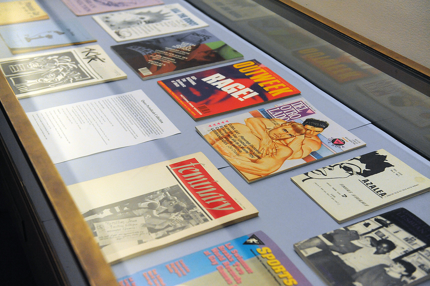 "An accompanying exhibit titled ""Queer Life, Queer Studies"" is on display through May 15 on the first floor of Olin Library."