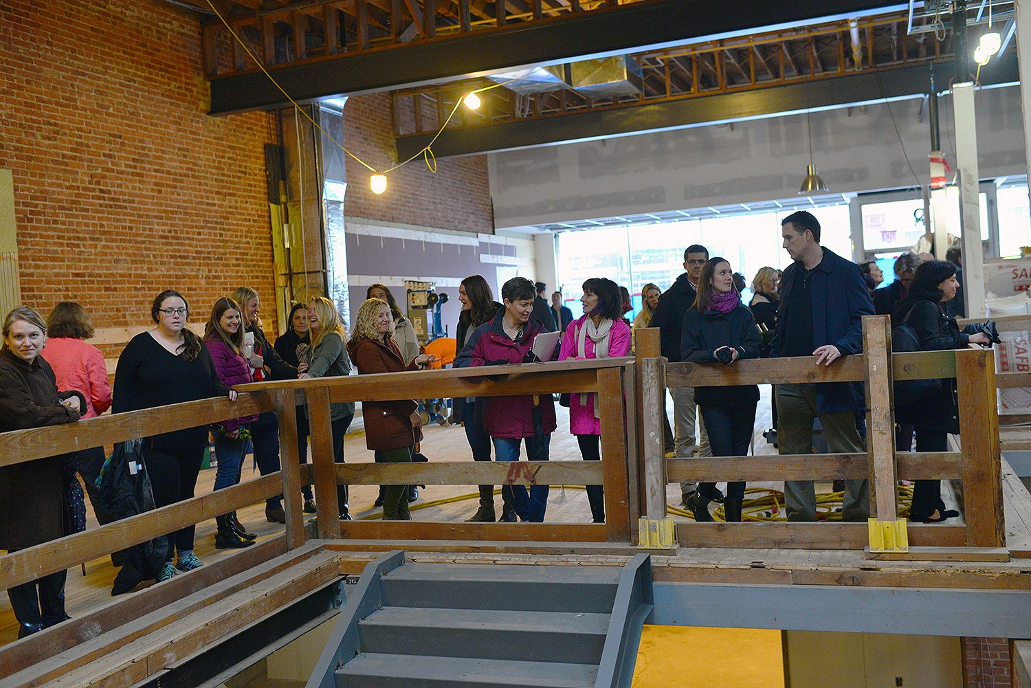 Staff from University Relations and University Communications toured the bookstore-in-progress on April 4,