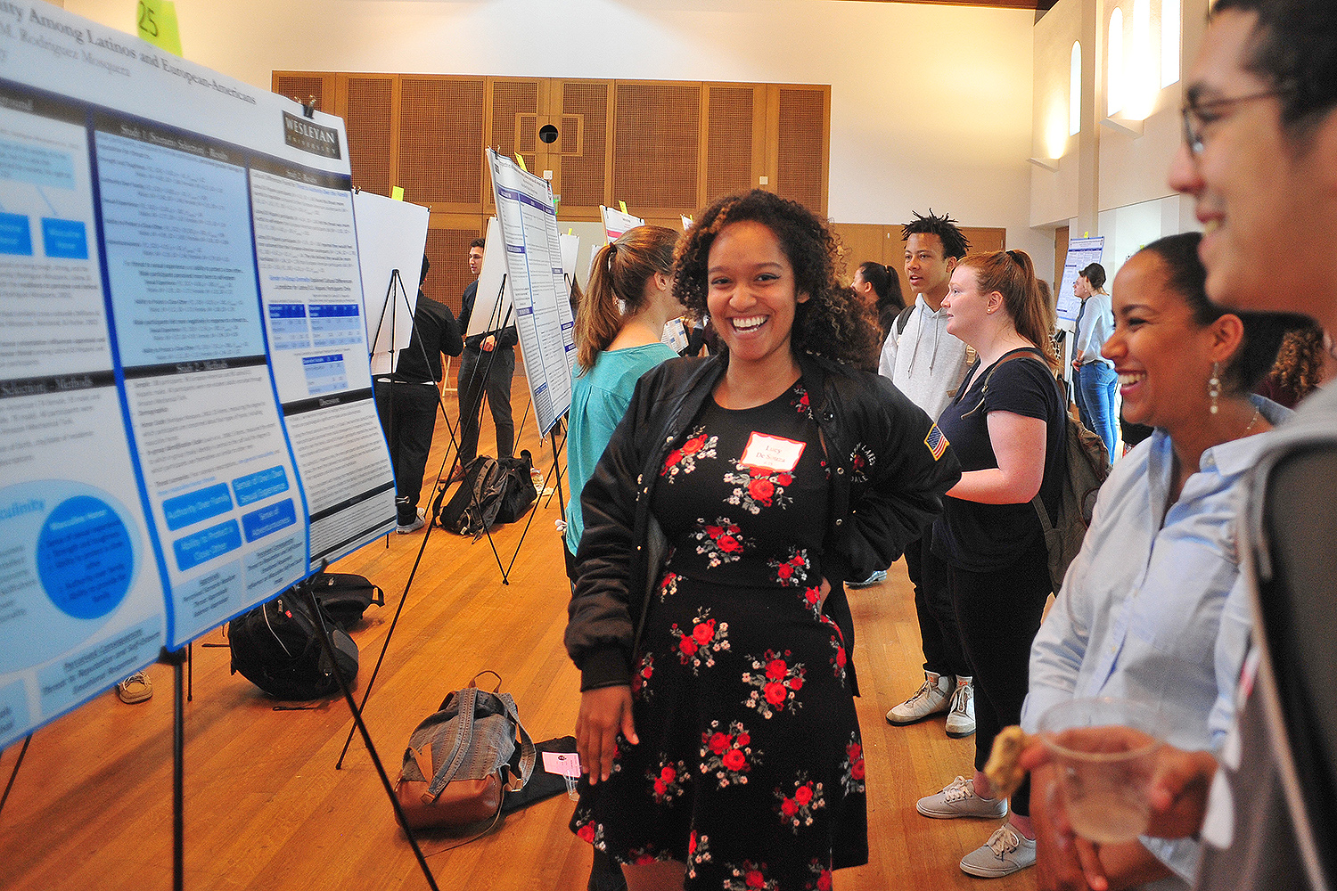 "Psychology graduate student Lucy De Souza examined ""Honor and Masculinity Among Latinos and European-Americans."" De Souza's faculty advisor is Patricia Rodriguez Mosquera, associate professor of psychology."