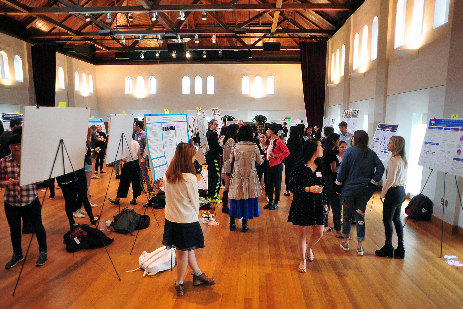 The Psychology Department hosted a research poster presentation April 27 in Beckham Hall. More than 102 students presented 46 posters.