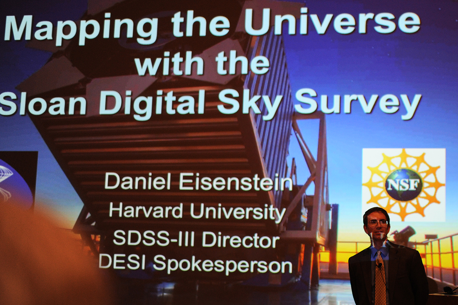 Eisenstein has served as the Director of the Sloan Digital Sky Survey III, the chair of the National Science Foundation Astronomy Portfolio Review committee, and is involved in the instrument teams of various new telescopes. He has been recognized repeatedly for his achievements in the field, including the prestigious Shaw Prize in Astronomy, awarded in 2014, elected to the National Academy of Sciences, and being named a Simons Investigator in 2016. (Photos by Caroline Kravitz '19)