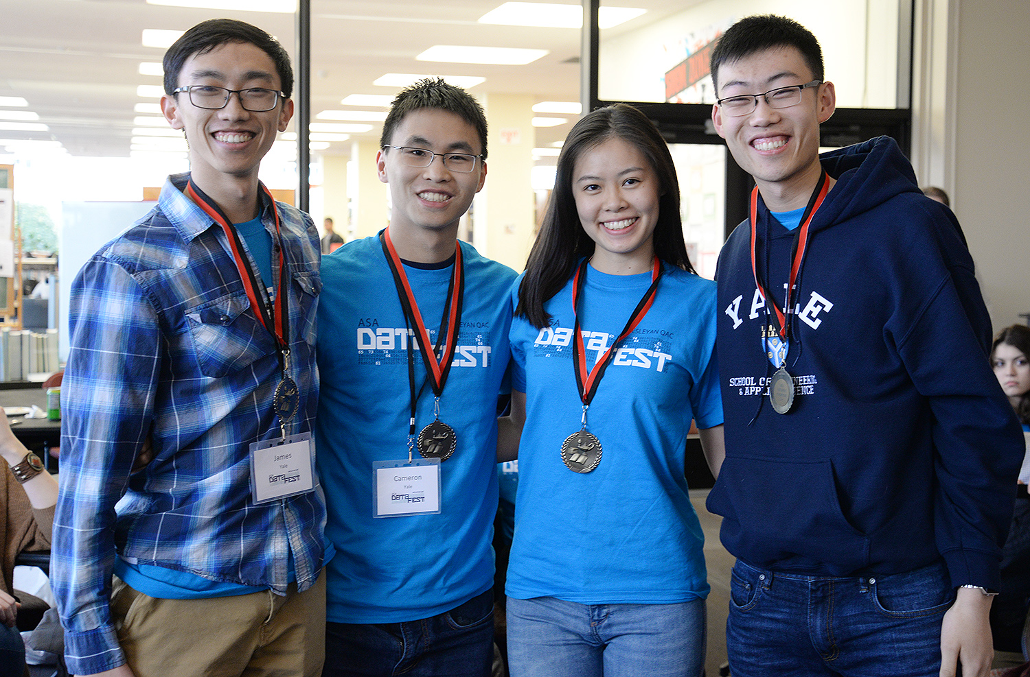 Anscombe's Quartet, a team from Yale, won Best in Show. Students included Valerie Chen, James Diao, Alan Liu and Cameron Yick.