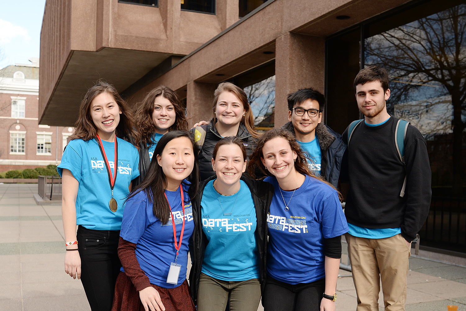 Students gathered outside Exley following DataFest. (Photos by Will Barr '18)