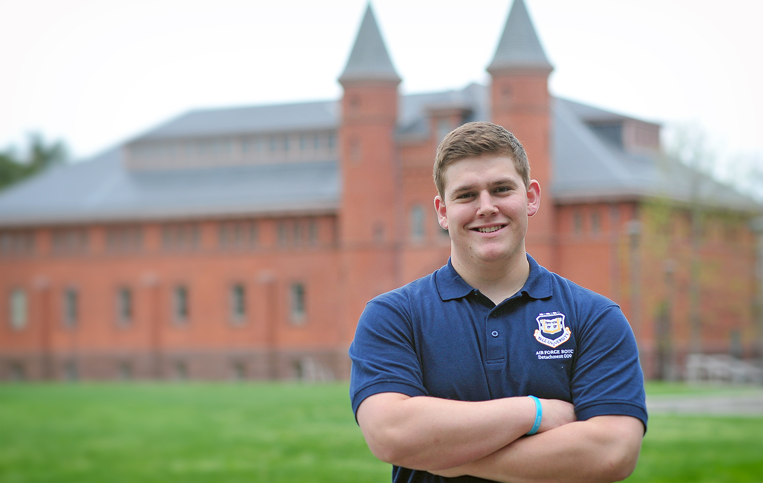 Dalton Garver '20 participates in the Air Force Reserve Officer Training Corps (ROTC) at Yale University.