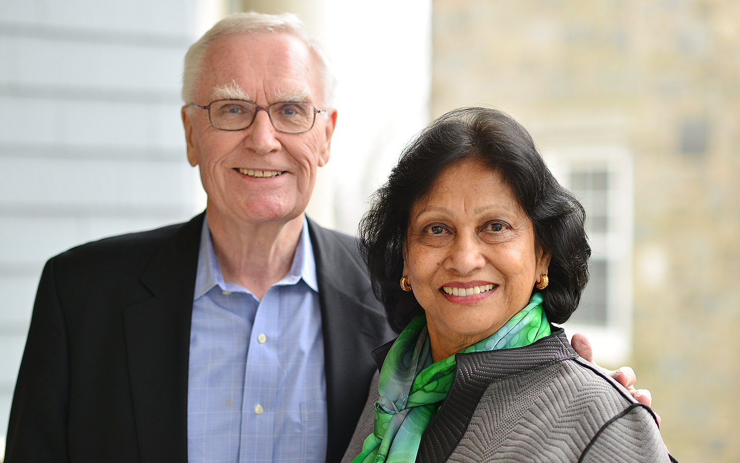 On April 7, Menakka and Essel Bailey '66 visited the College of Letters.