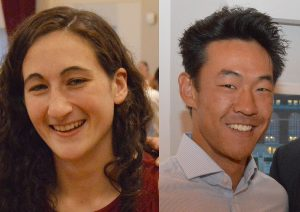 Rachel Aronow '17 and Michael Liu '17 were honored with the Roger Maynard Memorial Award.