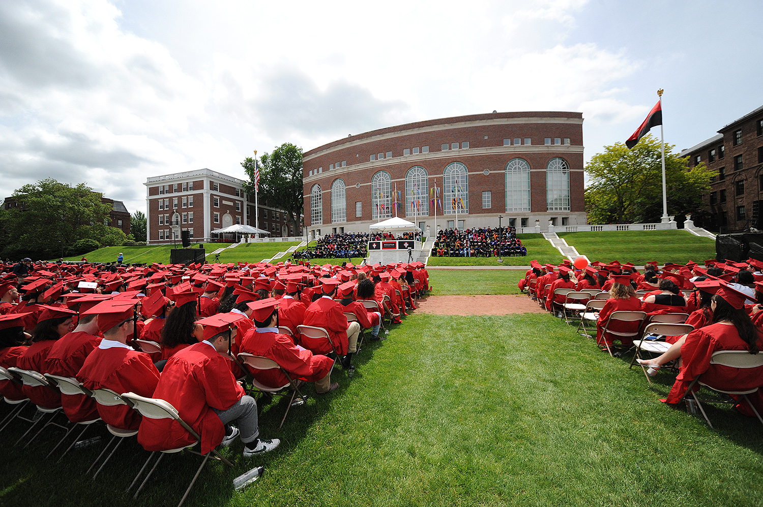 Reunion and Commencement Weekend at Wesleyan University, May 28, 2017. (Photo by Caroline Kravitz '19)