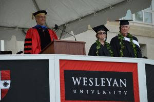 Reunion and Commencement Weekend at Wesleyan University, May 28, 2017. (Photo by Tom Dzimian)