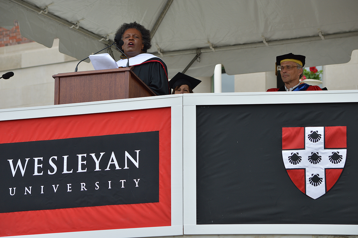 Claudia Rankine delivered the 2017 Commencement address.