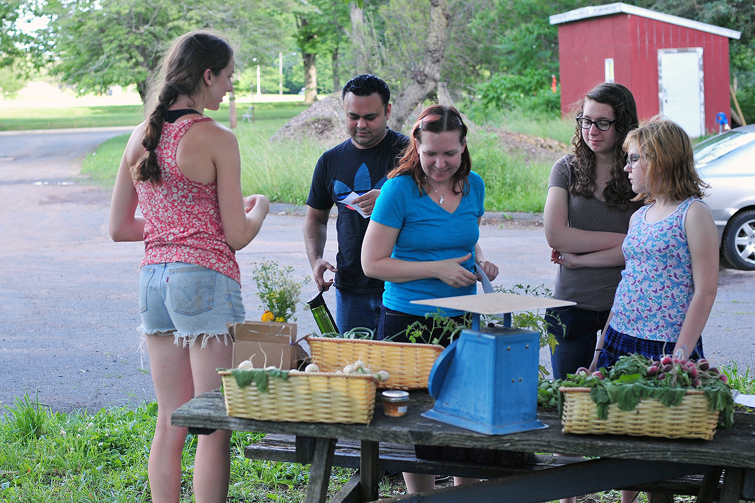 Students tending Wesleyan's Long Lane Farm are now selling their produce at a weekly farmers' market.
