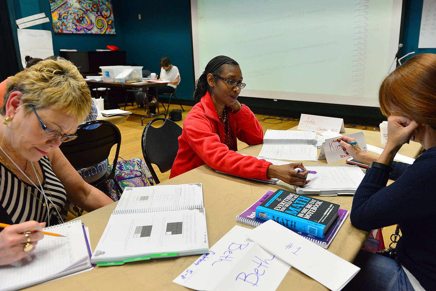 Intel Math is an intensive, 80-hour, content-based course that helps local teachers deepen their own understanding of K-8 math content and connections between concepts.