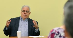 """Dr. Joe Fins '82 spoke on """"Writing about Science and Medicine."""""""