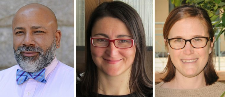 From left, Anthony Ryan Hatch, Basak Kus and Courtney Weiss Smith.