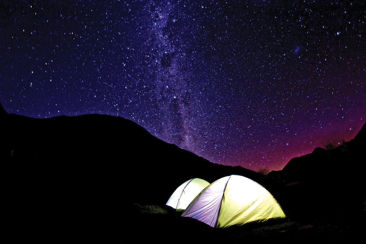 "Winner: Best Photograph of Nature | ""March, Lake Moke, New Zealand. That night four of my friends (Kirsten, Mel, Jo, and Caroline) and I brought our sleeping bags outside our tents while it was freezing, so that Kirsten and I could work on taking star pictures. This photo represents encompasses my life abroad where I spent almost every weekend traveling, camping, and seeing some of the most breathtaking views with amazing people."" (Submitted by: Heidi Westerman '17)"