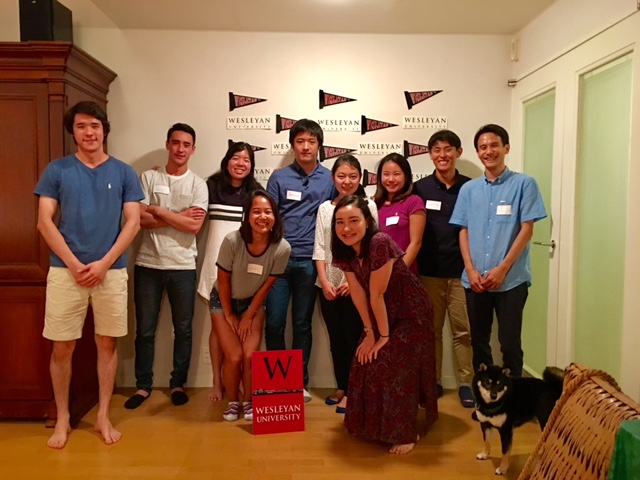 The Tokyo sendoff was hosted by Chiharu and Roberto Lorenzoni P'19, P'20.
