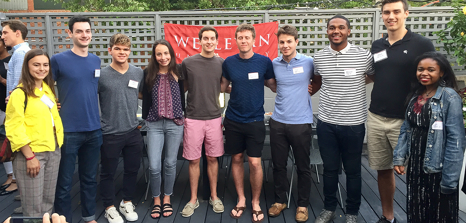 The Chicago sendoff was hosted by Lewis '83 and Shawn Ingall P'21 on Aug. 15.