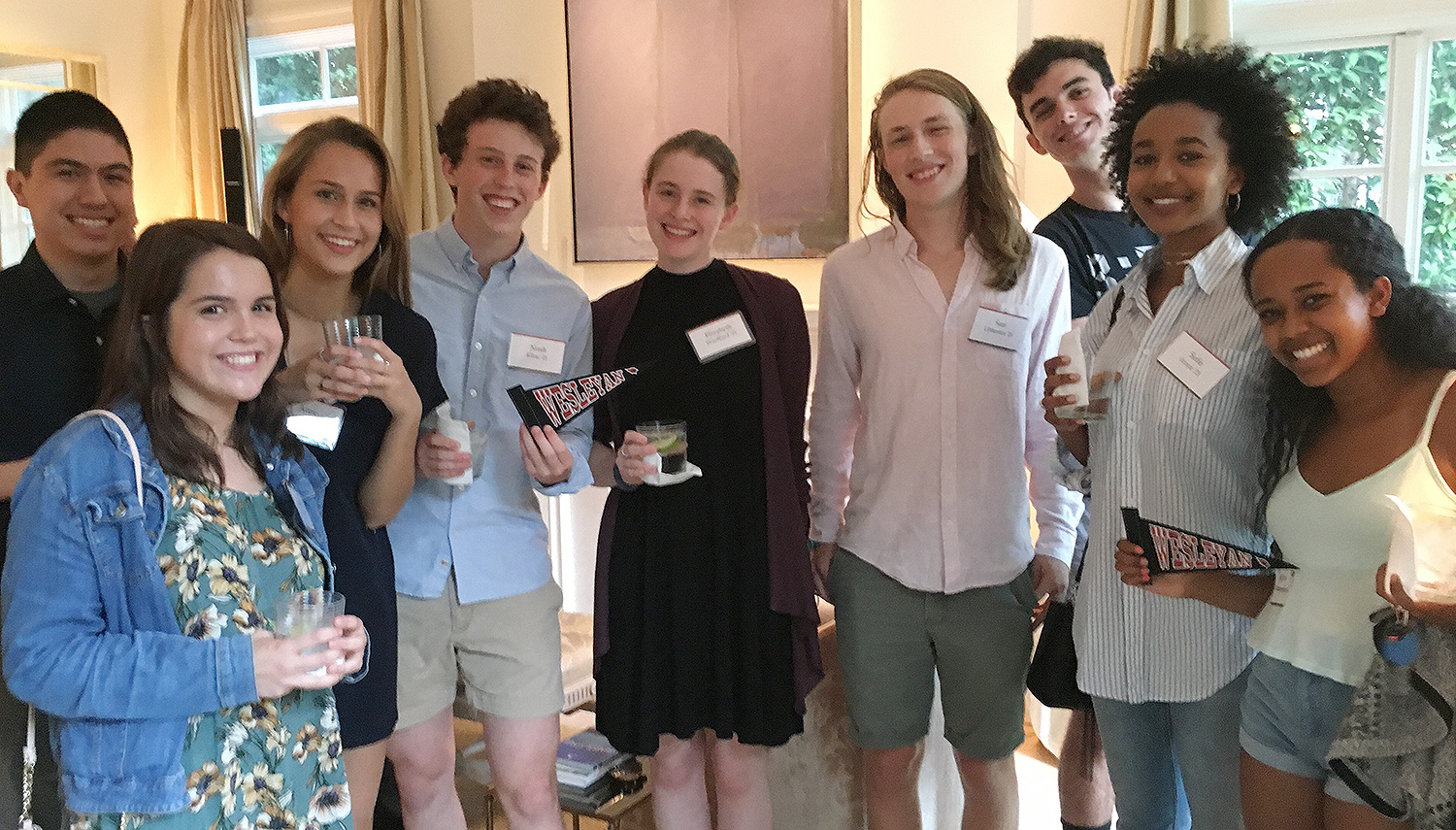 On July 17, a Summer Sendoff was held in Washington D.C. The event was hosted by Lisa Hook P'17, Peter Gillon P '17 and Nick Springsteen '17.