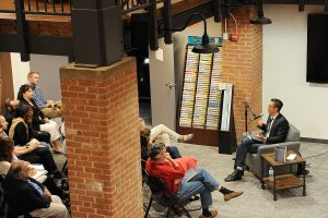 The Wesleyan RJ Julia Bookstore frequently hosts author talks and book signing events.