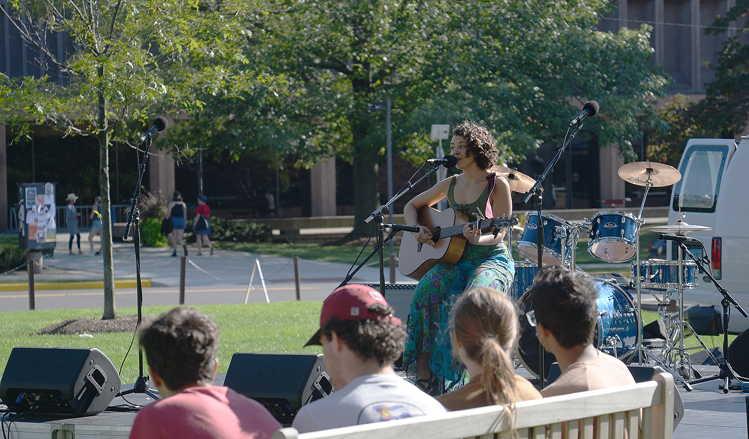 Anna Savage '18 performed at the Olin stage.