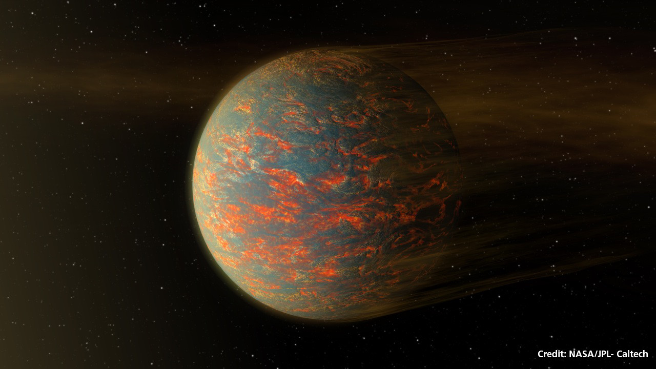 A team of scientists from Wesleyan, led by Associate Professor of Astronomy Seth Redfield and graduate student Prajwal Niraula MA'18, discovered three super-Earths transiting around a nearby star, just 98 light-years from Earth. This NASA-generated image was created to depict 55 Cancri e, a super-Earth 40 light-years away from Earth.