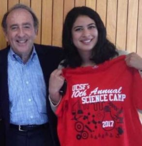 Najwa Anasse '18 and Dr. Jay Levy