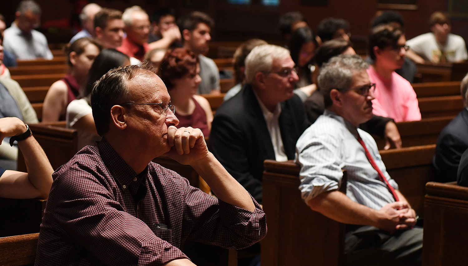 Wesleyan faculty, staff, students and members of the broader community attended the lecture.