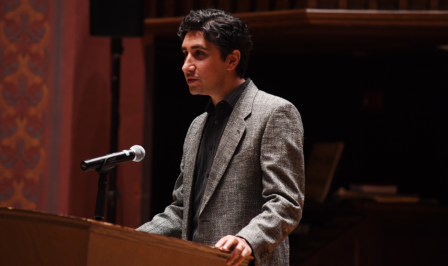 Tushar Irani, associate professor of philosophy, associate professor of letters, also focuses his research on ancient Greek and Roman philosophy. He has interests in questions of philosophical method, the history and practice of rhetoric, ancient Greek and Roman literature, Plato and the history of ethics.