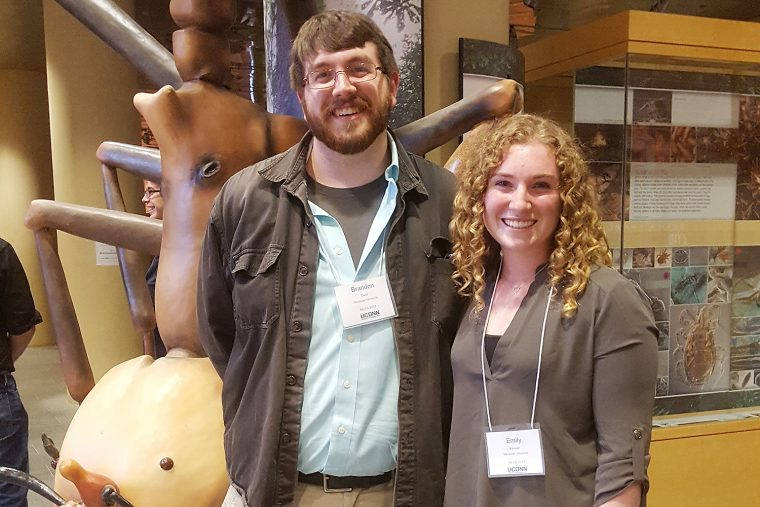PhD candidate Brandon Case and Emily Kessler '18 attended the North Eastern Structural Symposium at the University of Connecticut.