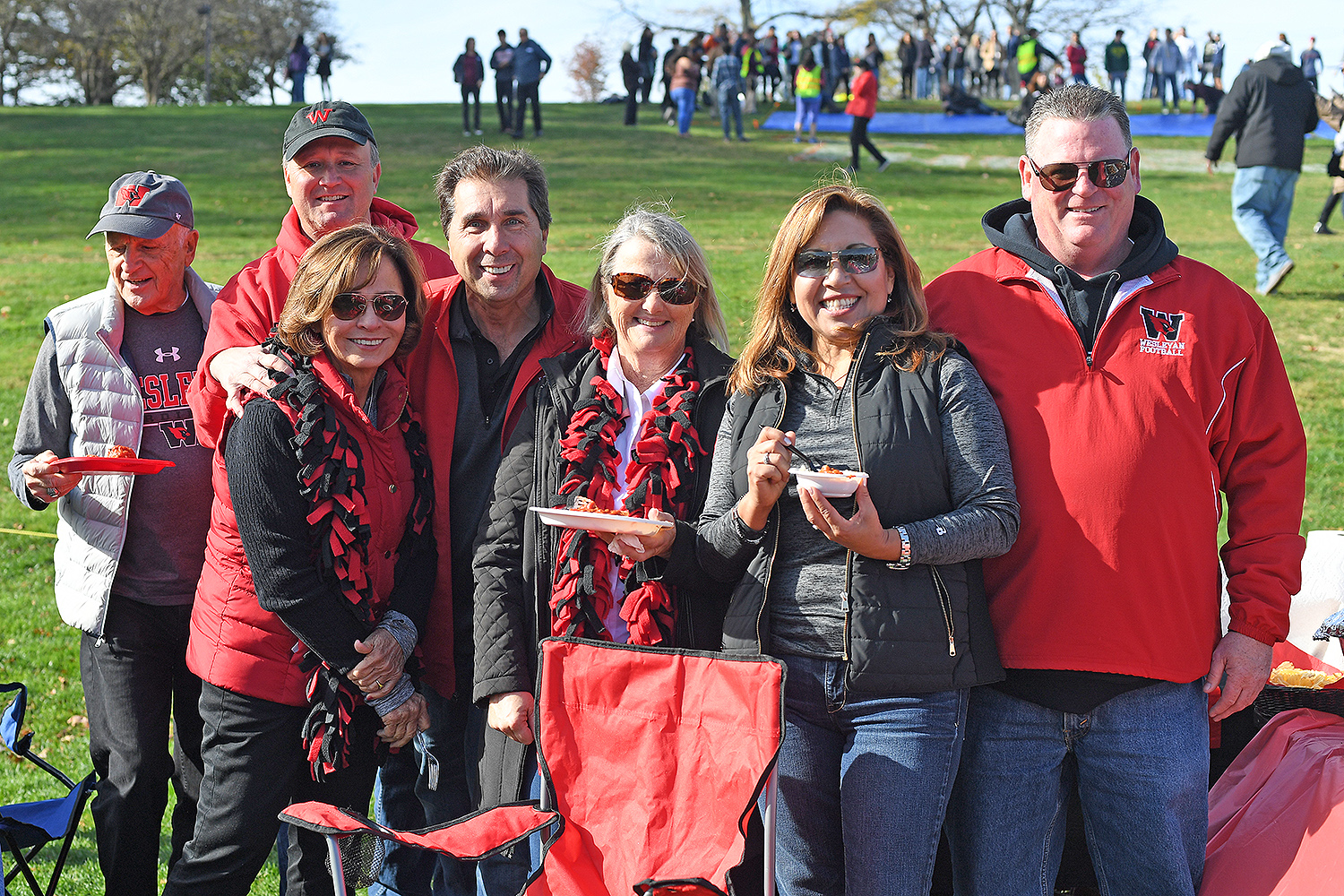 Hundreds of Wesleyan alumni and families participated in the traditional Homecoming/Family Weekend Tailgating event on Andrus Field.