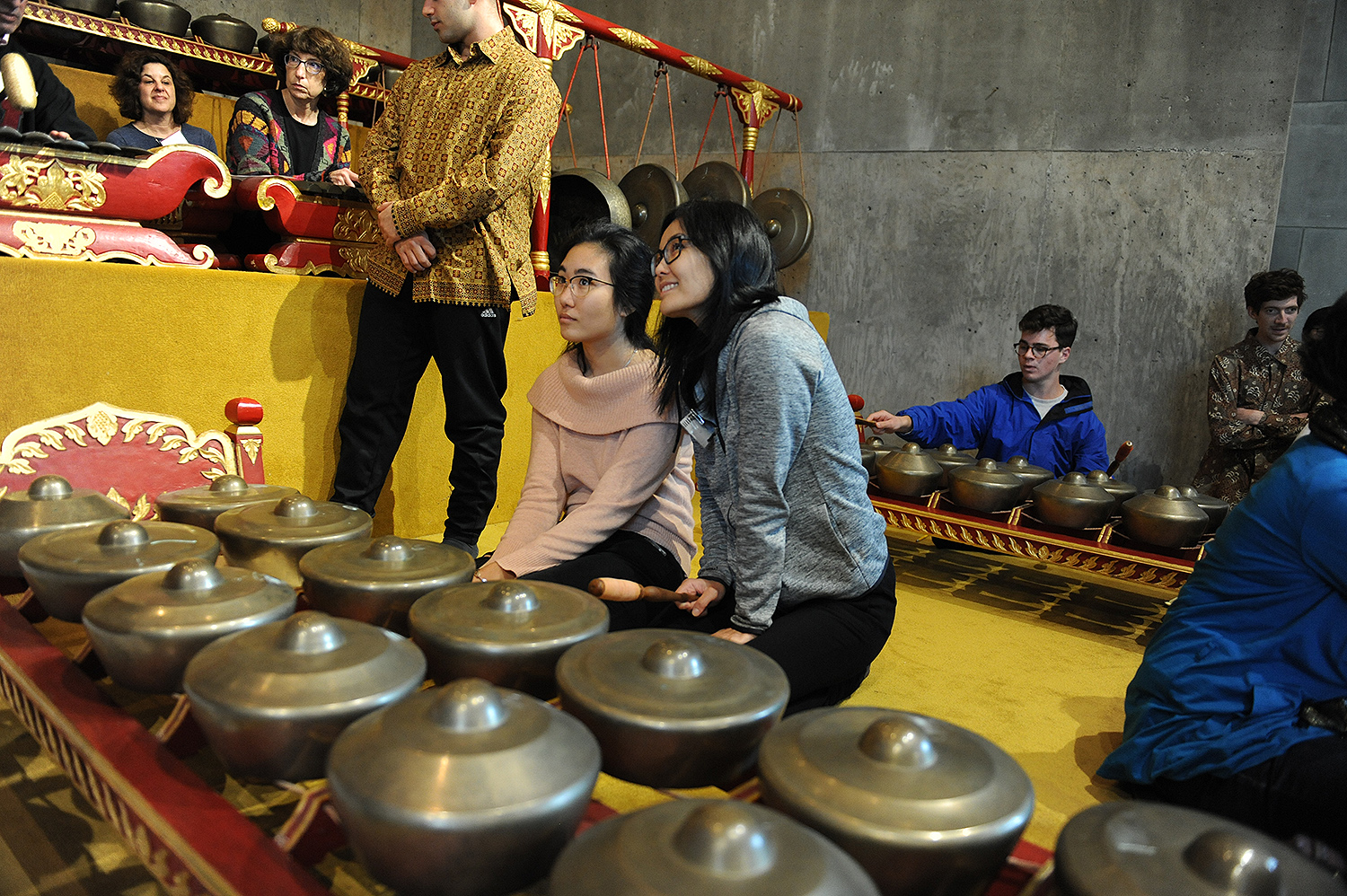 Families and alumni were welcome to participate in a Gamelan Workshop WESeminar on Nov. 4.