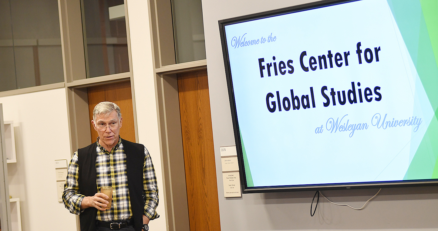 The Fries Center for Global Studies hosted an open house on Nov. 13 and welcomed Wesleyan community members with an interest in international education and initiatives to stop by and learn more about the center.
