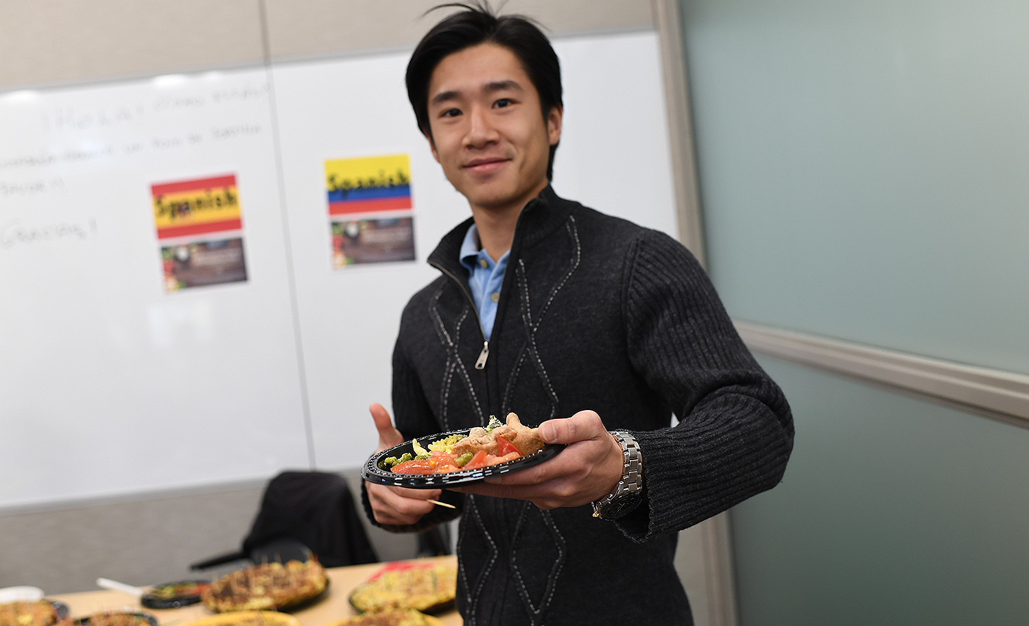 "On Nov. 15, the Fries Center for Global studies hosted a ""Food Around the World"" luncheon which combined language learning with ethnic food."