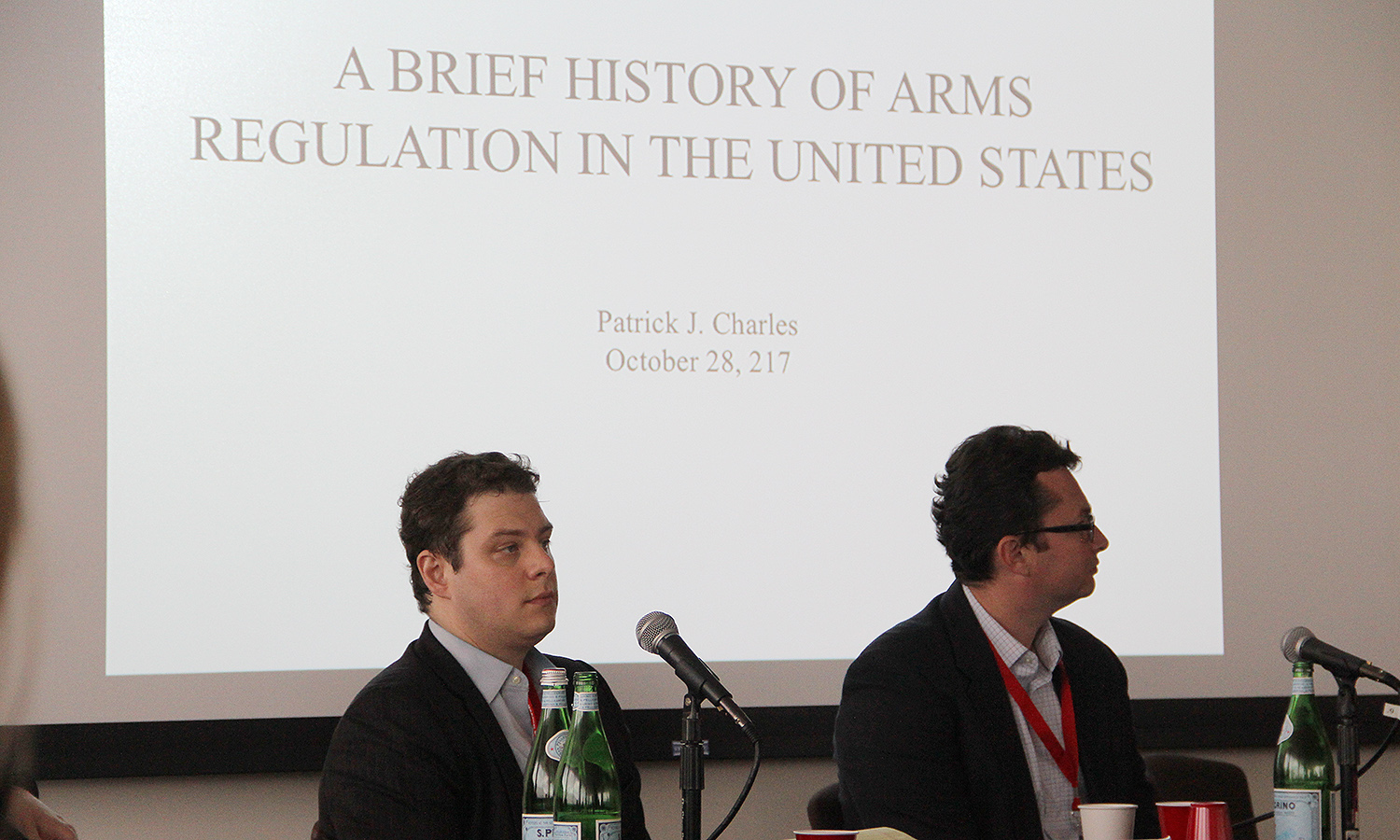Patrick Charles, senior historian for U.S. Special Operations Command located at MacDill Air Force Base, Florida, and the author of a forthcoming book, Armed in America: A History of Gun Rights from Colonial Militias to Concealed Carry, examined the history of arms regulations laws.