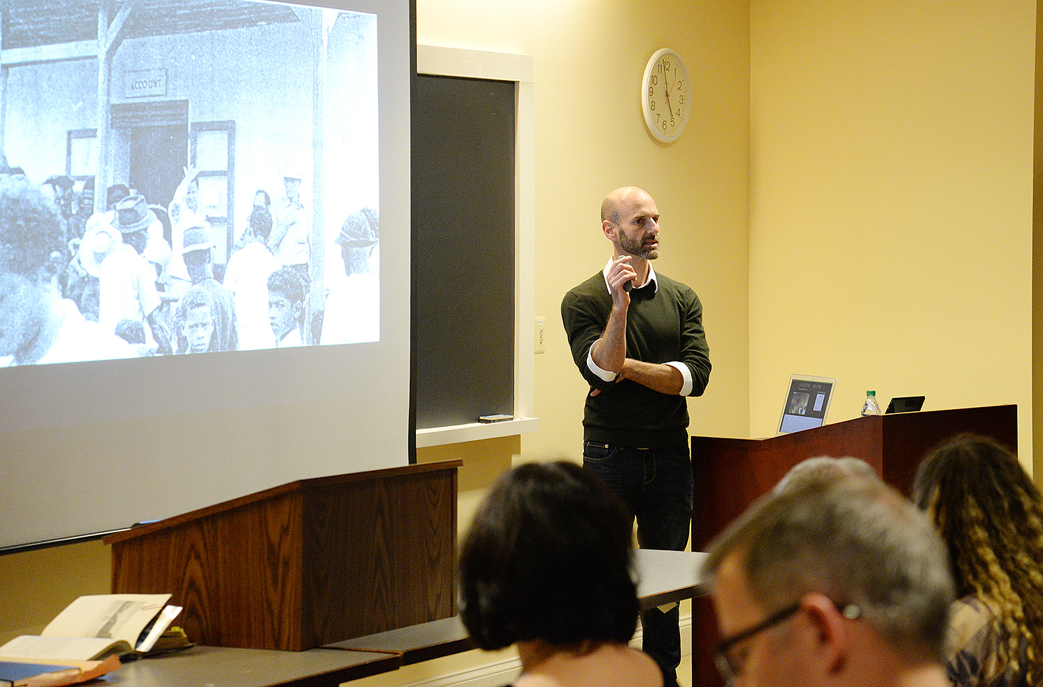 The event was co-sponsored by the Allbritton Center for the Study of Public Life and the Anthropology and Classical Studies Departments.