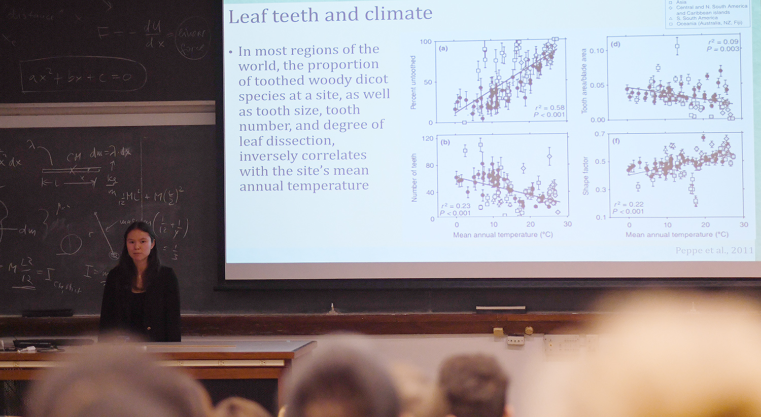Plants in cold climates, McKee explained, are likely to have leaves that are more dissected and have larger teeth than plants growing in warmer climates.