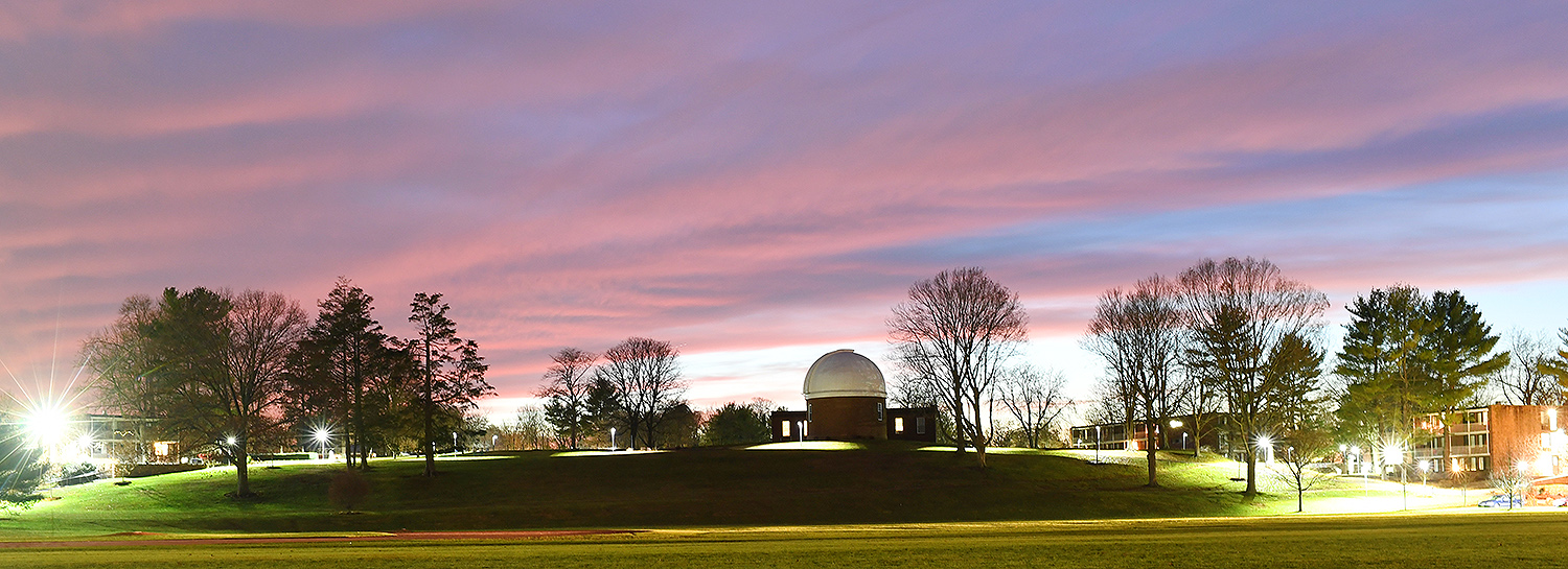 Foss Hill and the Van Vleck Observatory.