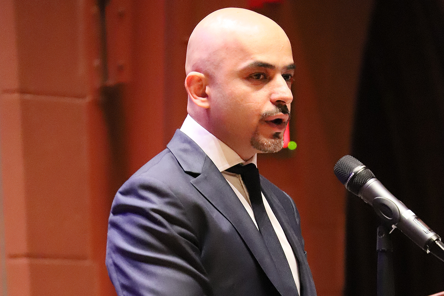 Mustafa Nayyem, a member of Ukrainian Parliament, Democratic Alliance, and former former investigative journalist, delivered the event's keynote address.