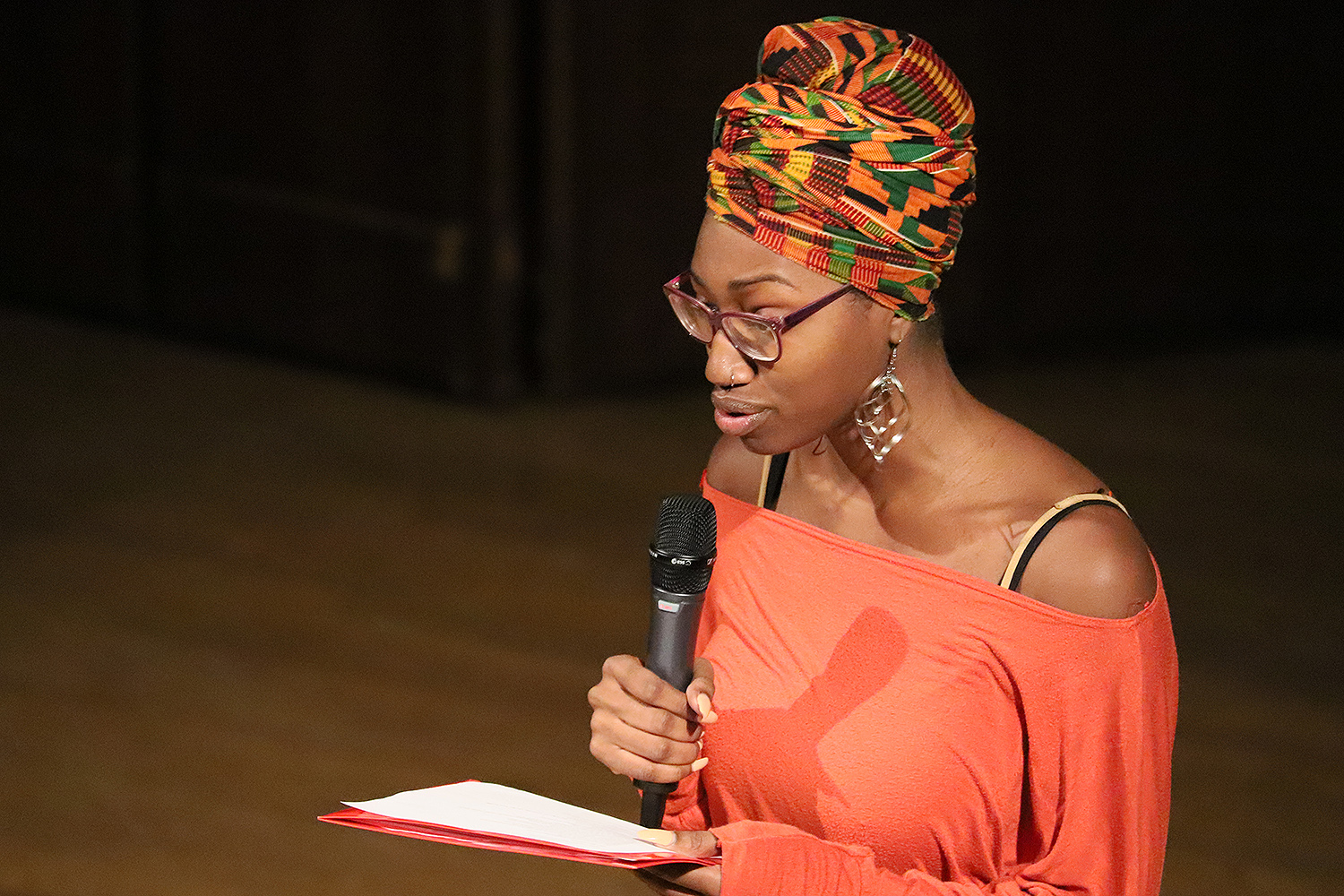 Writer Naomi Williams '19 presented a spoken word.