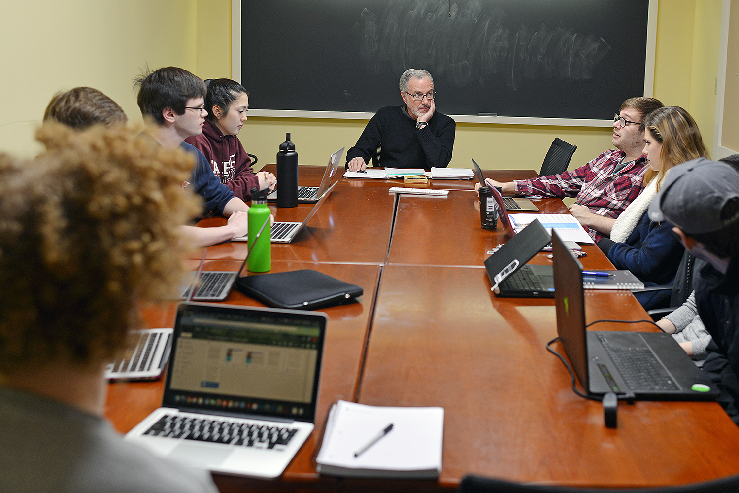 In Andy Szegedy-Maszak's Calderwood seminar, Classical Studies Today, nine juniors and seniors learn to translate weekly academic readings into writing that can be understood and appreciated by various audiences.