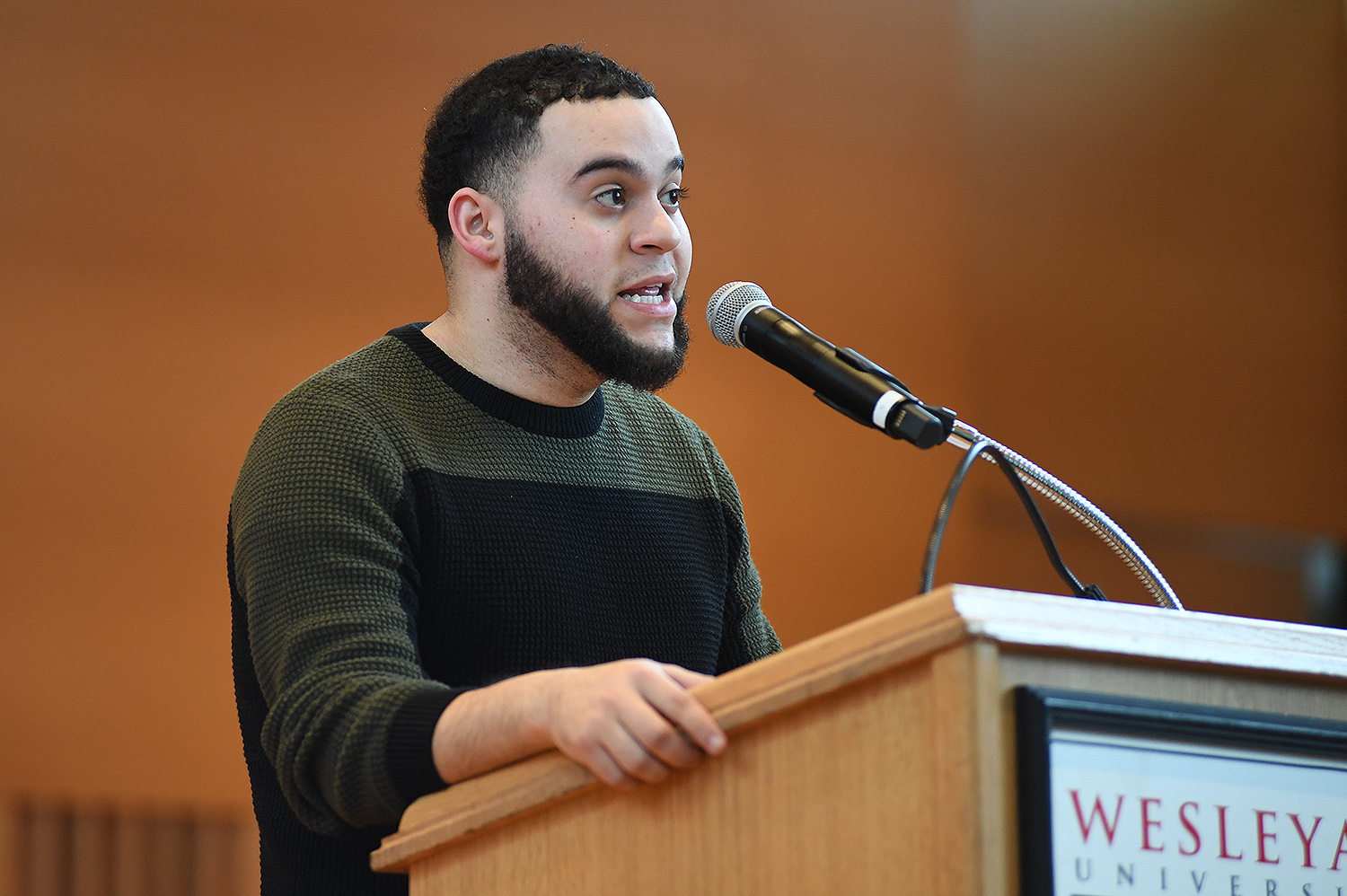 Isaac Guzman '21 introduced the keynote speaker, Joi Lewis. Utilizing the Orange Method framework, which is grounded in the deep concept of healing justice to invite, inspire, explore, and unpack the practice of radical self-care as source, site, and agency tool for Black Liberation and Freedom, Lewis uses poetry, song, and stories to illuminate how individuals and institutions transform and move towards true liberation, even against the backdrop of racism and oppression-induced toxic stress and trauma.