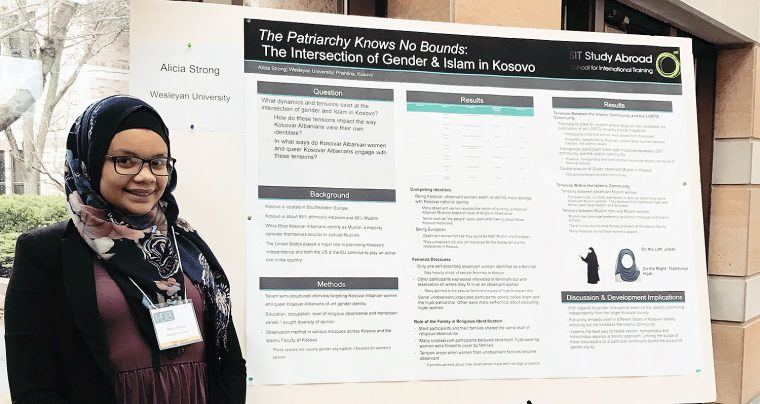 Alicia Strong '18 presented research at the prestigious Human Development Conference at the University of Notre Dame, held February 23-24.