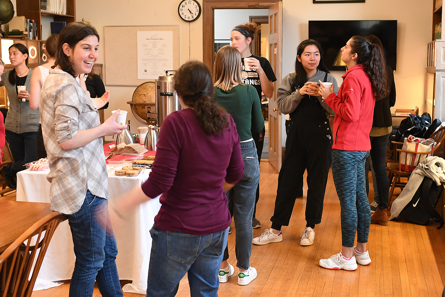 On Feb. 15, the Wesleyan Women in Science group hosted Student-Faculty Tea for WesWIS students and female science faculty. The event took place inside the Van Vleck Observatory's library.