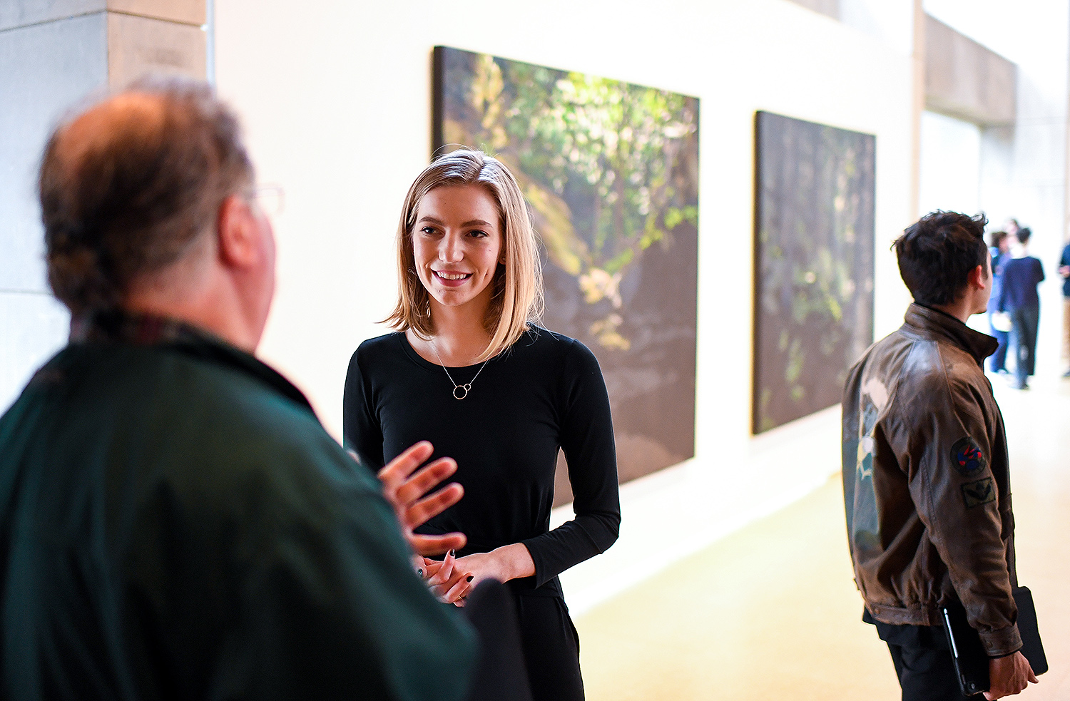 "Virginia Johnson speaks to Professor Barry Chernoff about her work, ""IMMERSIVE paintings."""