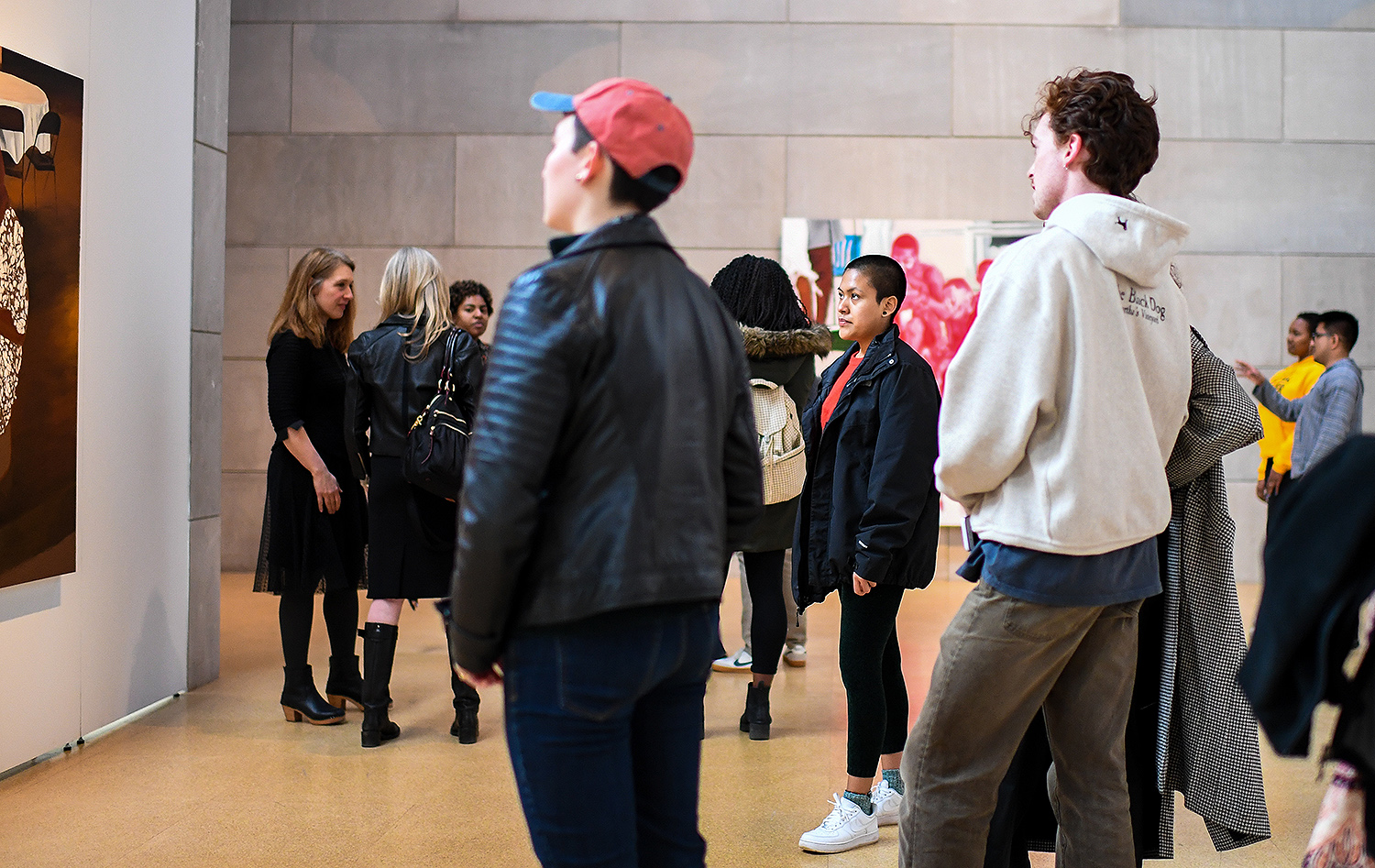 Seniors in the Department of Art and Art History's Art Studio Program are displaying their work throughout the month of April in Zilkha Gallery